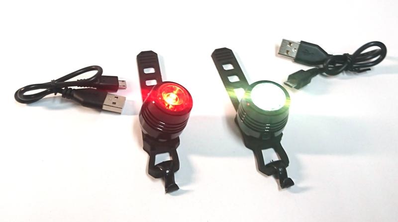 Lampki Rowerowe Led Przód I Tył Usb Części Do Skuterów